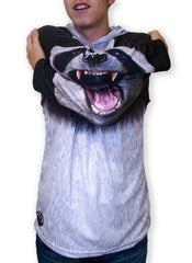 Panda Hoodie Shirt-sleeve chomp action view
