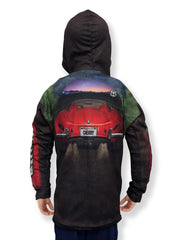 Mouthman® MotorMouths™ ROUTE 66 Car Hoodie - Back