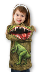 SCALY RAPTOR Dino Hoodie Sport Shirt by MOUTHMAN®