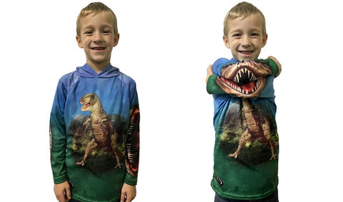 NEW!!! MOUTHMAN® T-REX-DINO-MITE Sport Shirt for Youth/Adult Unisex