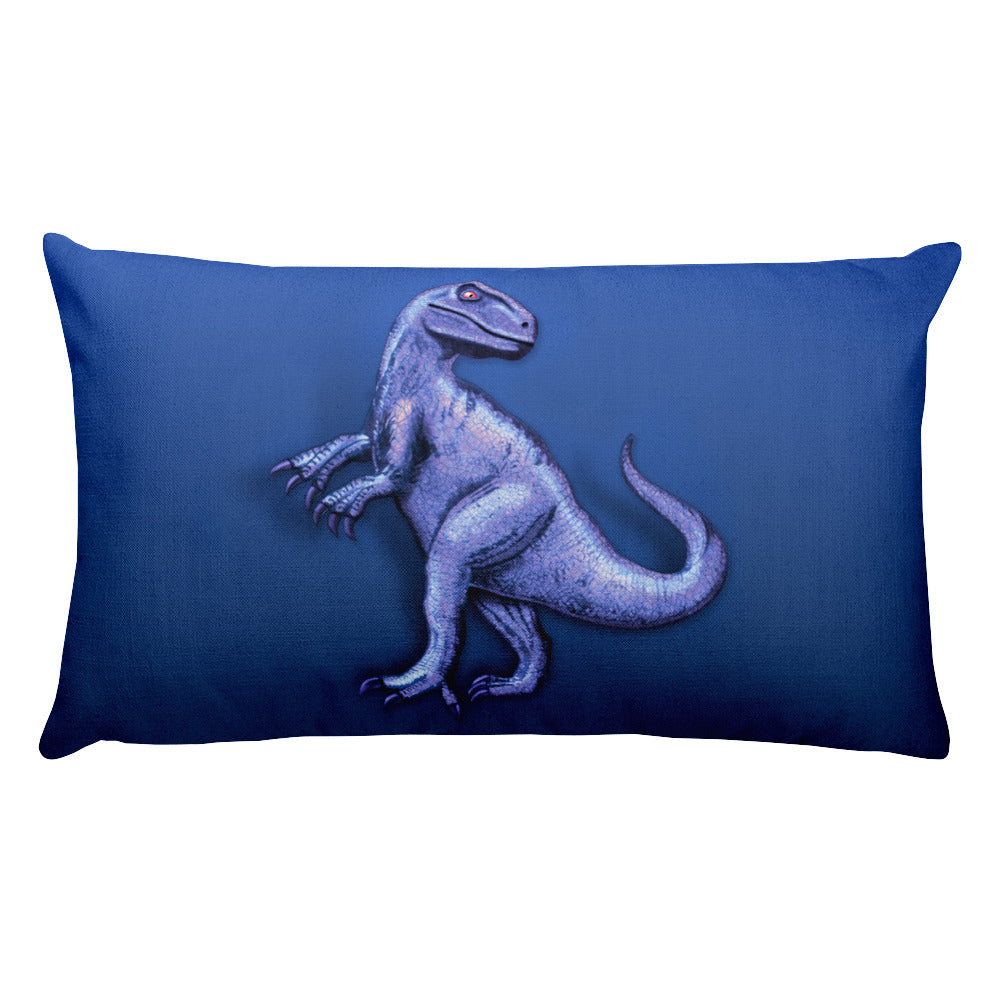 Raptor in Blue Rectangular Pillow by Mouthman®
