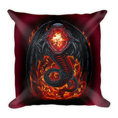 Fire Dragon Square Pillow by Mouthman®