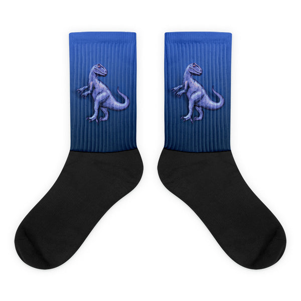 Raptor in Blue Black Foot Socks by Mouthman®