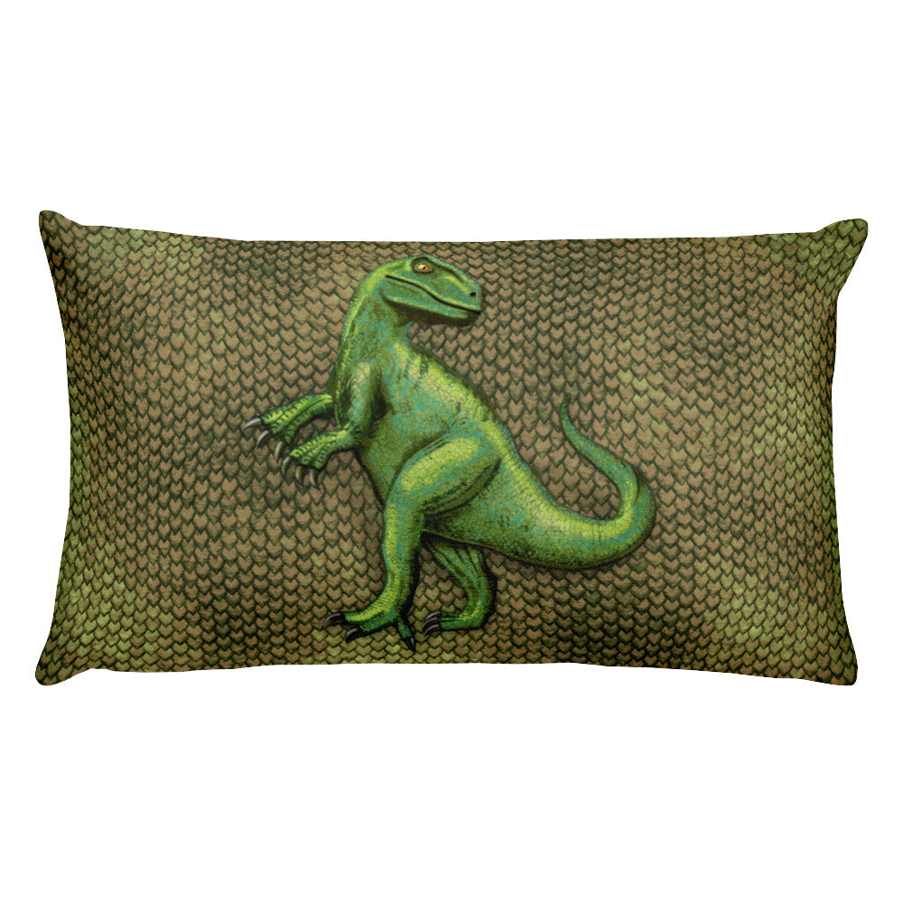 Raptor Scaly Rectangular Pillow by Mouthman®