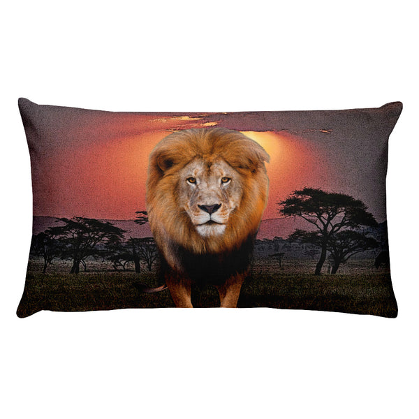 Lion Rectangular Pillow by Mouthman®