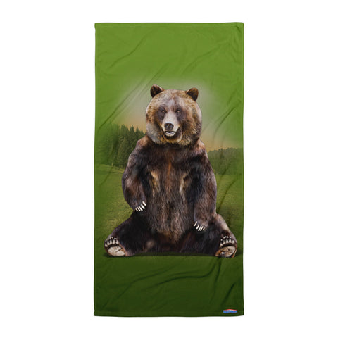 GRIZZLY BEAR BEACH BLANKET by MOUTHMAN®
