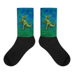 Rockin' Raptor Black Foot Socks by Mouthman®