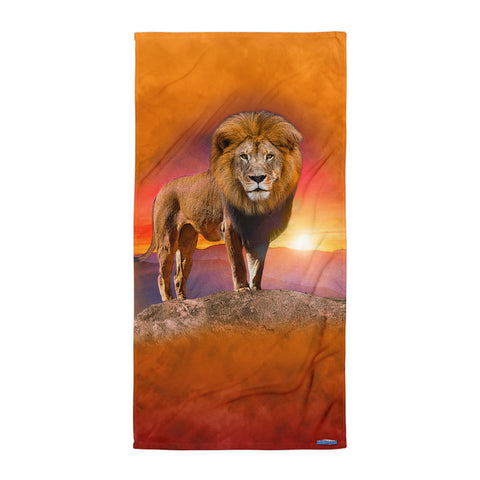 LION JUNGLE MASTER BEACH BLANKET by MOUTHMAN®