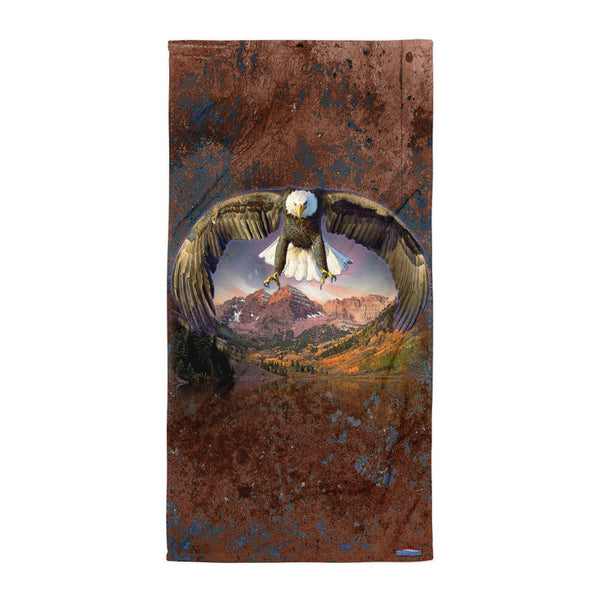 BALD EAGLE SPIRIT BEACH BLANKET by MOUTHMAN®