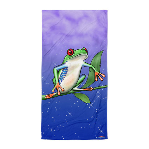 TREE FROG BEACH BLANKET by MOUTHMAN®