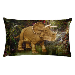 Triceratops Dino Rectangular Pillow by Mouthman®