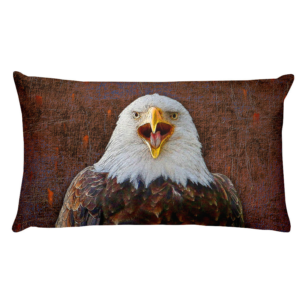 Eagle Rectangular Pillow by Mouthman®