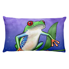 Tree Frog Rectangular Pillow by Mouthman®