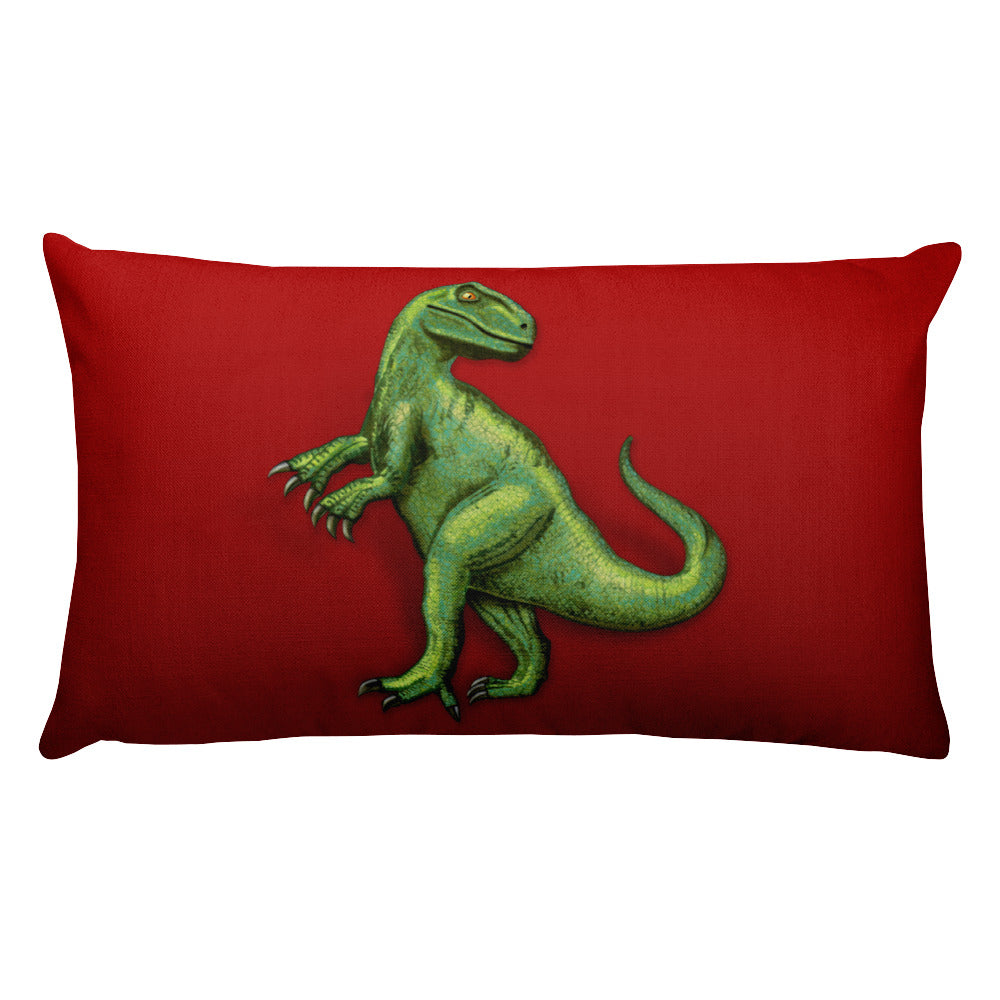 Raptor in Red Rectangular Pillow by Mouthman®