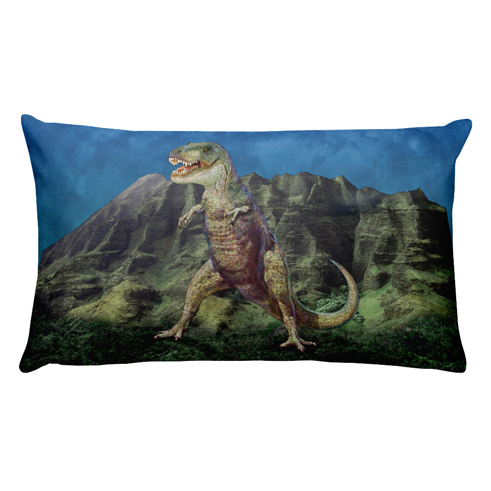 T-Rex Dino-Mite Rectangular Pillow by Mouthman®