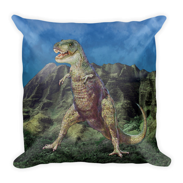 T-Rex Dino-Mite Square Pillow by Mouthman®