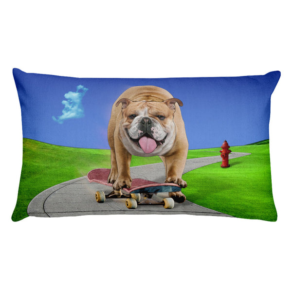 Bulldog Rectangular Pillow by Mouthman®