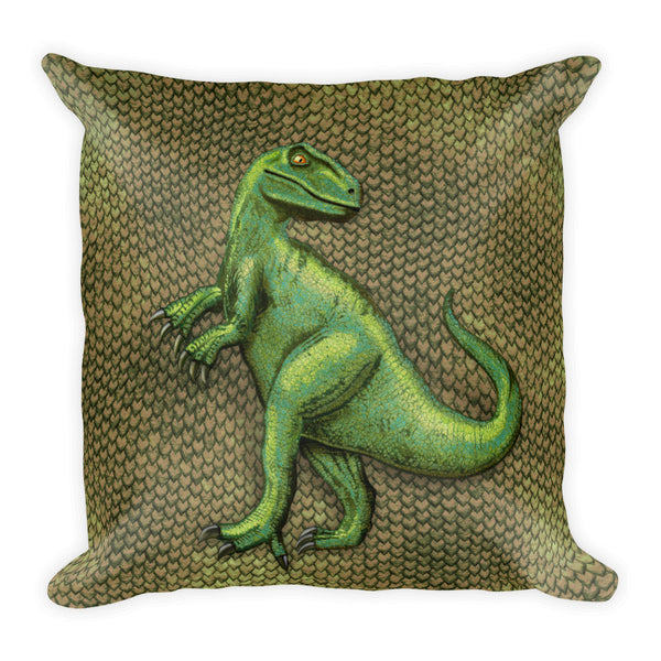 Raptor Scaly Square Pillow by Mouthman®