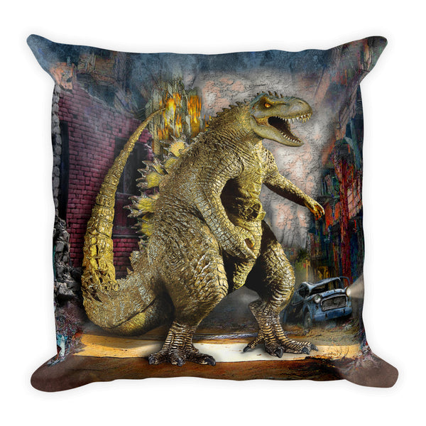 Monstasaurus Dino Square Pillow by Mouthman®