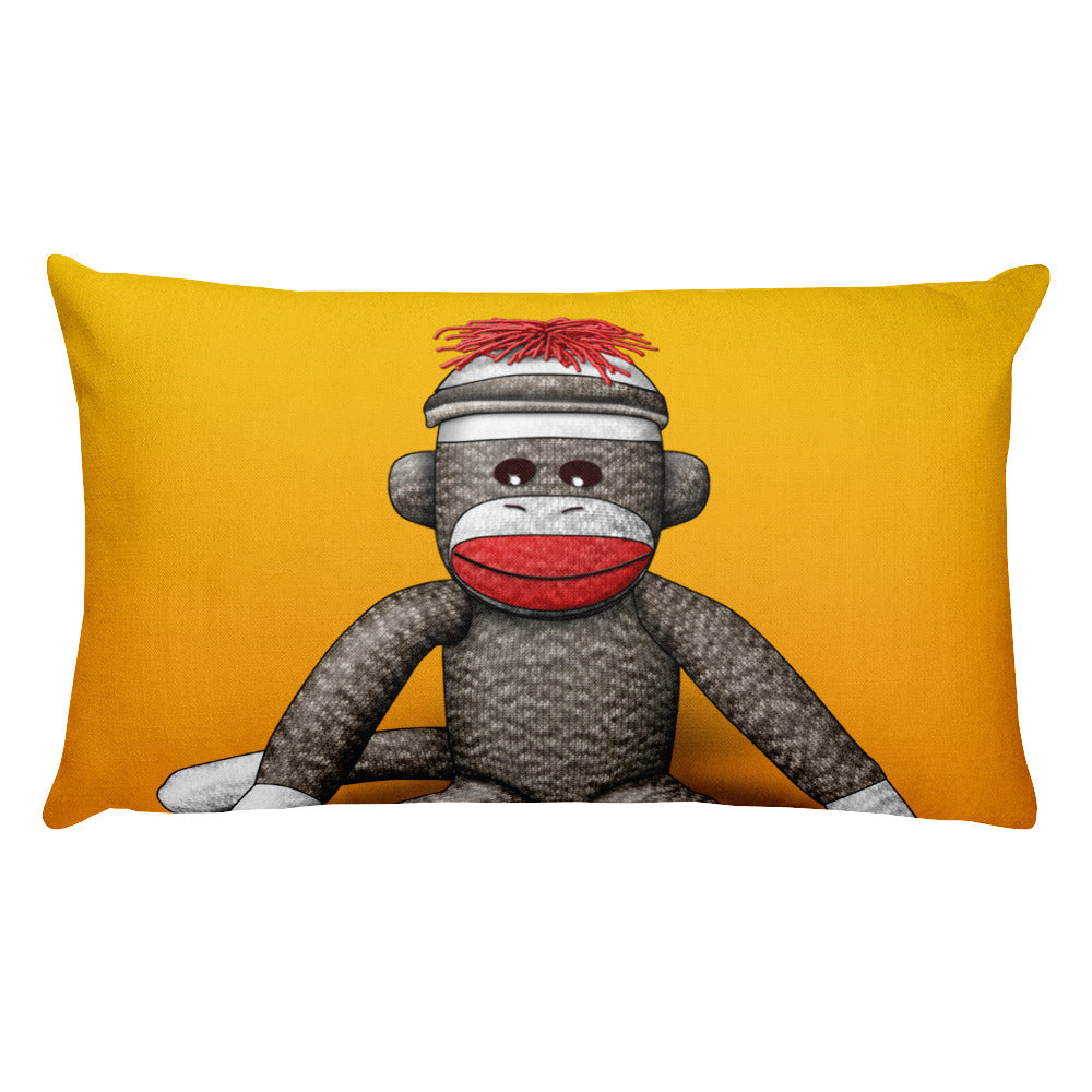 Sock Monkey Rectangular Pillow by Mouthman®