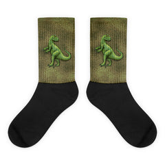 Raptor Scaly Black Foot Socks by Mouthman®