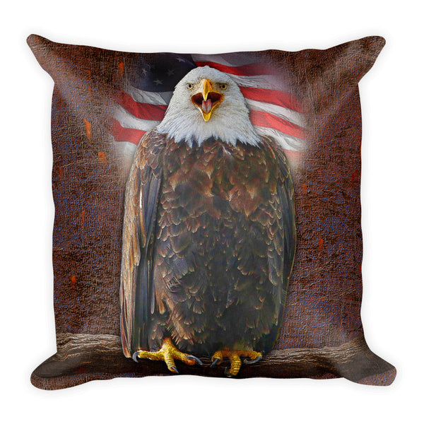 Eagle USA Square Pillow by Mouthman®