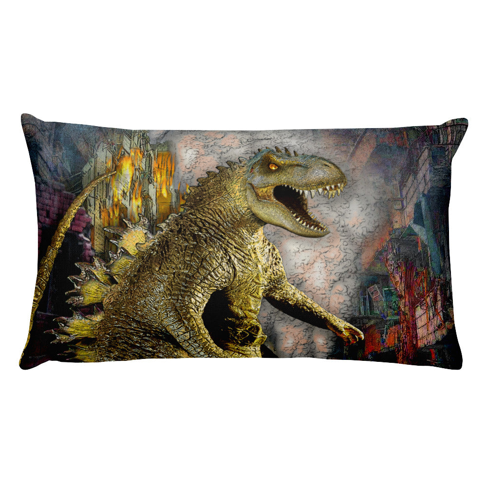 Monstasaurus Dino Rectangular Pillow by Mouthman®