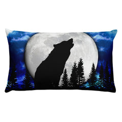 White Wolf Rectangular Pillow by Mouthman®