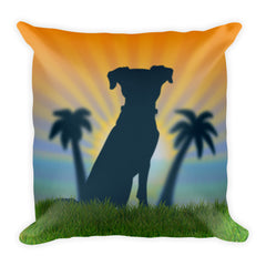 Hound Dog Square Pillow by Mouthman®