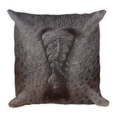 Hippo Square Pillow by Mouthman®