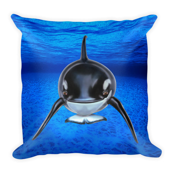 Orca Square Pillow by Mouthman®