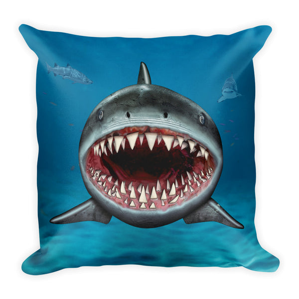 Shark Square Pillow by Mouthman®