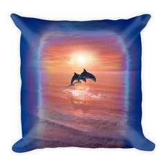 Dolphin Square Pillow by Mouthman®