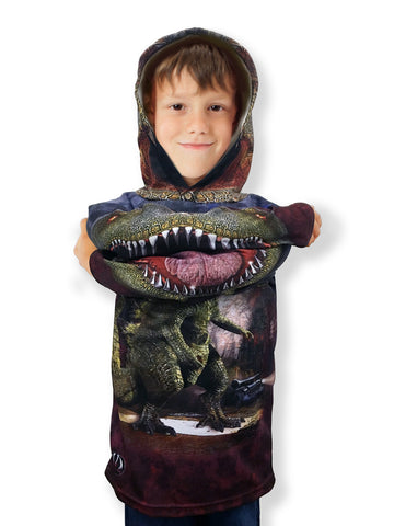 NEW!!! MOUTHMAN® MONSTASAURUS Dino Hoodie Sport Shirt | Youth unisex