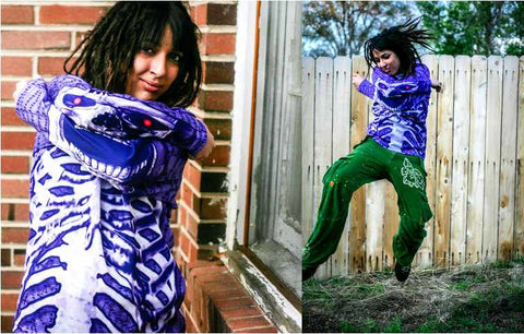 MOUTHMAN® Purple Skeleton Hoodie Sport Shirt  Tots/Youth/Adults unisex $34.99 - $48.99+