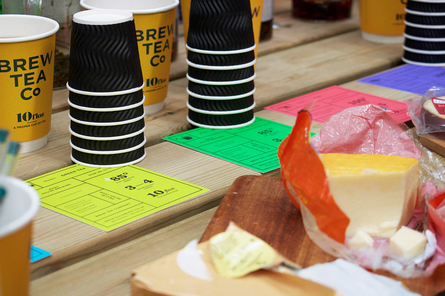 Tea and Cheese Pairing.