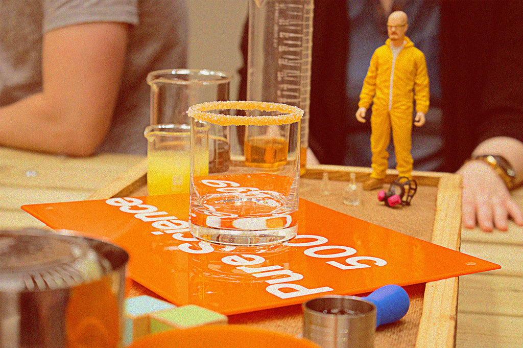Walter White inspects the cocktail process