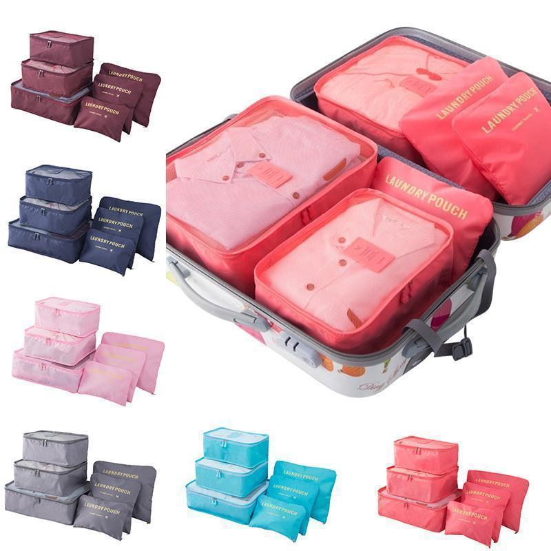6 Pieces of Portable Luggage Packing Cubes