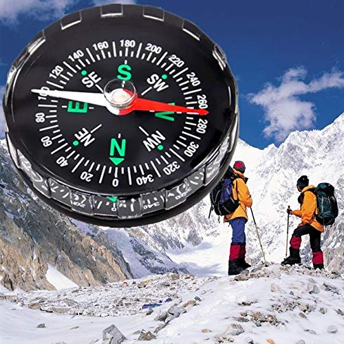 Camping Practical Guider Compass - pure Green leaf