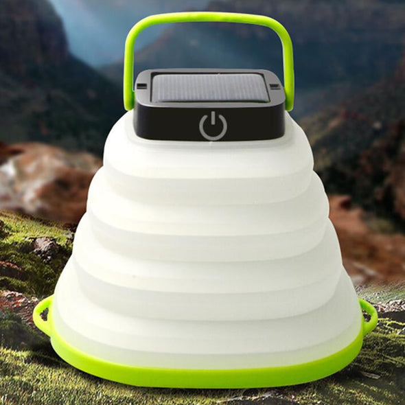 Portable Lantern Solar Powered Lamp - pure Green leaf