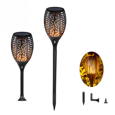 Solar Flame Flickering Lamp Torch - pure Green leaf