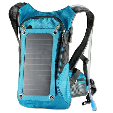Solar Panel Hiking Back Pack - pure Green leaf