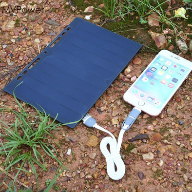 Solar Panel Portable Charger - pure Green leaf