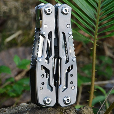 All in one Stainless Survival Tool - pure Green leaf