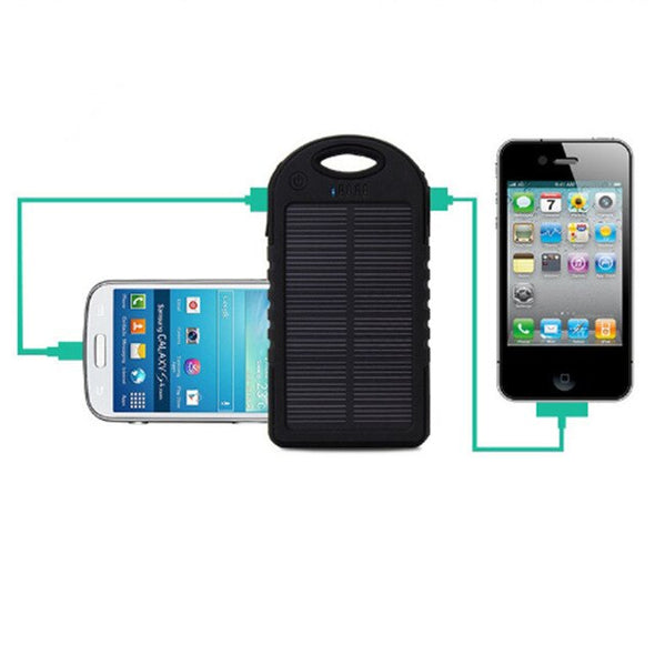 Solar Portable Travel Powerbank - pure Green leaf