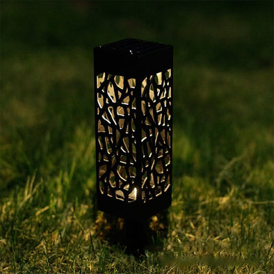 Solar Garden Pathway Lights - pure Green leaf