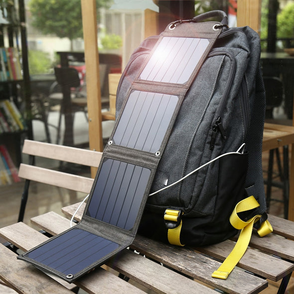 Portable Solar Panel Charger - pure Green leaf