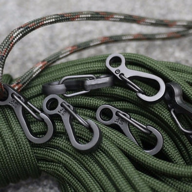 Hike Quickdraw Carabiner Tactical Keyring - pure Green leaf