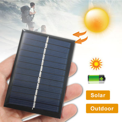 Mini Solar System Battery Cell - pure Green leaf
