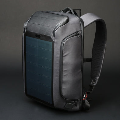 Travel Solar Anti-theft Backpack - pure Green leaf